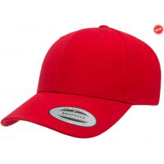 Кепка FlexFit Curved Visor Snapback Red